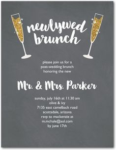 Superior Sparkling Brunch   Studio Basics: After Wedding Brunch Invitations   Wedding  Paper Divas Studio Basics