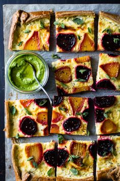 This savory, rustic tart makes use of the whole beet – from leaf to root – all tucked into flaky gluten-free pastry with ricotta goat cheese custard and slathered in brilliant green pesto. A collab…