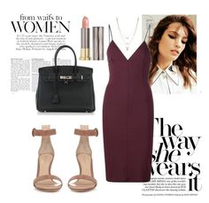 """Bordeaux"" by woodsenlikethis ❤ liked on Polyvore featuring Gianvito Rossi, Hermès, T By Alexander Wang, Jessica Simpson and Urban Decay"