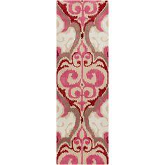 Banshee Beige & Pink Rug design by Surya