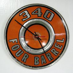 Dodge Plymouth Wall Clock  340 Four Barrel by StarlingInk on Etsy, $119.99