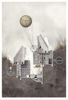 'Speculation' / Alexander Wiegering, 2013. Mixed Media. Imaginative