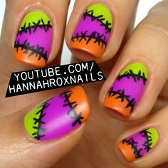 Halloween Stitch Nail Art
