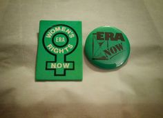 Check out this item in my Etsy shop https://www.etsy.com/listing/238283708/vintage-era-now-womens-rights-buttons