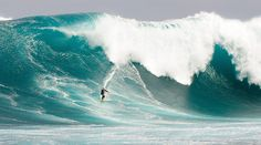 Australian surfer Mark Visser surfs an 11 m (36 ft) wave at Cow Bombie, near the West Australian town of Gracetown, 280km (174 mi) south of Perth, Australia in this photograph obtained September 28, 2009. The organisers claim that Visser had caught one of the biggest waves in Australia for 2009