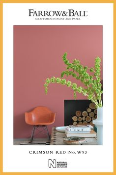 If you're a fan of Sulking Room Pink, then you'll love Crimson Red just as much! Slightly deeper in colour, this warm pink creates spaces that feel soft and inviting, especially when teamed with Skimmed Milk White on woodwork Farrow And Ball Living Room, Farrow And Ball Kitchen, Red Paint Colors, Exterior Paint Colors, Pink Hallway, Skimmed Milk, Edwardian House, Bedroom Red, Red Interiors