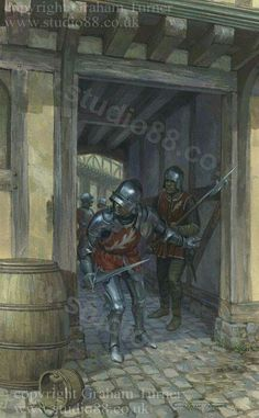 The Earl of Warwick's troops at 1st Battle of St. Albans.