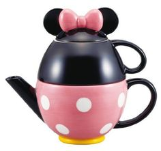 Disney tea set Minnie Mouse (pot and mug) (japan import) San Art Mickey Mouse And Friends, Minnie Mouse, Deco Disney, Coffee Cups, Tea Cups, Sans Art, Cute Teapot, Disney Cups, Disney Kitchen