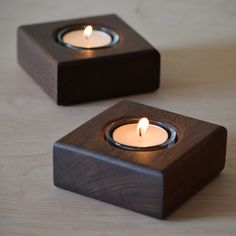 Ipe Wood Tea Light Candle Holder by LiveGrainDesigns on Etsy Tea Light Candles, Tea Lights, Ipe Wood, Wooden Candle Holders, Small Wood Projects, Wood Lamps, Tea Light Holder, Woodworking Projects, Wooden Crafts