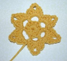 crochet flower star