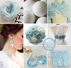 Wedding Inspiration Board : Soft Blue and Glittering WinterWhite - Brenda's Wedding Blog - wedding blogs with stylish wedding inspiration boards - unique real weddings - wedding vendors
