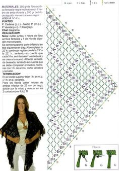 crochet shawl with diagram