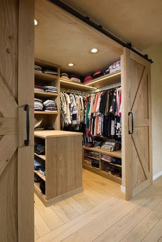 Spacious walk-in wardrobe JOB ARCHITECTS design rural home in pastorian styleCountry living? Rural property - houses for sale Huysman ConstructionRenovation monument farmhouse. Walk In Wardrobe, Walk In Closet, Home Interior Design, Interior Styling, Attic Bedrooms, New Homes, House, Home Decor, Rustic Closet