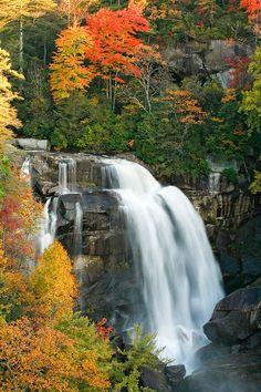 Fall at Whitewater Falls