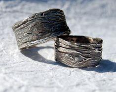 Vendas de boda anillos de bodas urbano rústico por codysanantonio