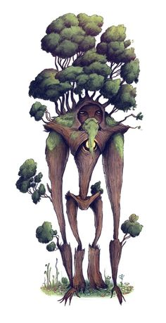 Fantasy Character Design, Character Design Inspiration, Character Concept, Character Art, Concept Art, Forest Creatures, Magical Creatures, Fantasy Creatures, Tree Monster