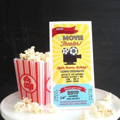 New Movie Party Themed Invitation - Anders Ruff Custom Designs