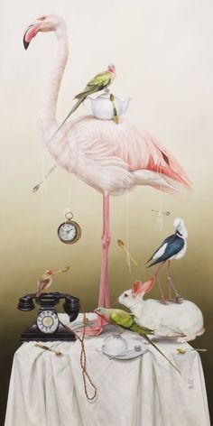 Hoity-Toity Celebrating the 150th Anniversary of Lewis Carroll's 'Alice In Wonderland' 2015 We just <3 this beautifully quirky & eccentric interpretation of the Flamingo.