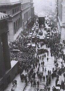 The Wall Street Crash of 1929, the beginning of the Great Depression