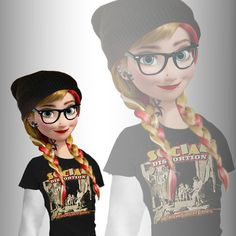 We all love Disney. Hipster Disney, Disney Punk Edits, Disney Fun, Frozen Disney, Anna Frozen, Emo Disney Characters, Punk Disney Princesses, Emo Disney Princess, Disney Villains
