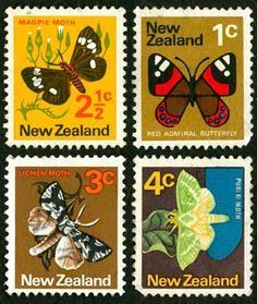 Moths and butterflies were depicted on a set of stamps produced in The magpie moth also appeared on a stamp when an increase in postage rates in 1971 rendered stamps obsolete. More than 37 million stamps were overprinted with a value.