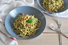 Spaghetti, Pesto, Ethnic Recipes, Food, Essen, Meals, Yemek, Noodle, Eten