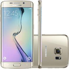 """Samsung Galaxy S6 Edge 32GB 4G Android 5.0 Tela 5.1"""" Câmera 16MP - Dourado - Americanas.com"""