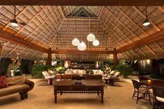The 'SJAI House' Mexican vacation villa Bamboo House Design, Tropical House Design, Luxury Home Decor, Luxury Homes, Hut House, Mexican Home Decor, Belle Villa, Vacation Villas, Gazebo