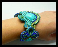 Soutache bracelet turquoise Swarovski crystals by Mayasbijou €43.73 EUR on Etsy.com