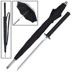 Sword Umbrella!  trueswords.com/sword-cane-samurai-katana-umbrella-hidden-blade-p-5595.html