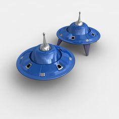 ufo craft 3d 3ds