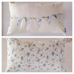 Floral Bunting Cushion by NellieJanesShop on Etsy