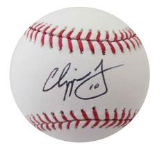 Chipper Jones Signed Baseball from Powers Autographs, $79.95 http://www.powersautographs.com/chipper-jones-autographed-mlb-signed-baseball-mounted-memories-coa-p-100677740.html#.U59kaSgzS8Q