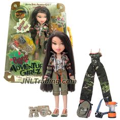 MGA Entertainment Bratz Adventure Girlz Series 10 Inch Doll - JADE with 2 Outfits, Camera, Canteen, Binoculars, Walkie-Talkie, Lantern and Backpack Little Girl Toys, Toys For Girls, Childhood Toys, Childhood Memories, Dc Superhero Girls Dolls, Girl Dolls, Baby Dolls, Bratz Doll Outfits, Bratz Girls