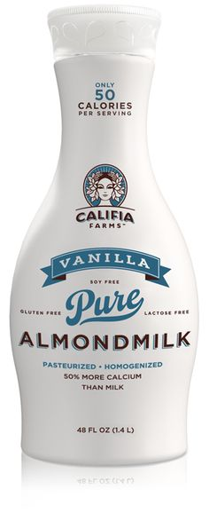 Best non-dairy milk I've ever tasted, hands down: Vanilla almondmilk from Califia Farms