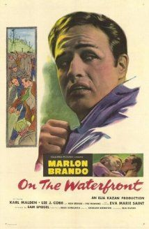 """""""On the Waterfront"""" (1954).  An ex-prize fighter turned longshoreman struggles to stand up to his corrupt union bosses.  I haven't seen this classic in a long time.  It's such a powerful film.  """"They don't make them like this anymore"""" comes to mind."""