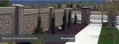 Precast Ashlar Concrete Fence Wall