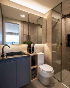 Bathroom Vanity Designs, Bathroom Design Luxury, Bathroom Trends, Modern Bathroom Design, Upstairs Bathrooms, Small Bathroom, Bathroom Showrooms, Condo Interior, Loft Interiors