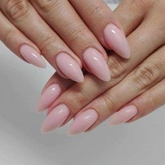 Easy Shape Light Rose & Natural Gel Polish by Paula z Madelaine Studio Elegant Nails, Classy Nails, Stylish Nails, Simple Nails, Simple Nail Art Designs, Diy Nail Designs, Pink Nail Art, Blue Nails, Trendy Nail Art