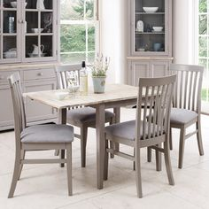 Breakwater Bay Chatham Extendable Dining Table and 4 Chairs & Reviews | Wayfair UK