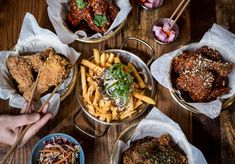 From the opening of a Mediterranean rooftop restaurant to Korean fried chicken, 2017 is off to a flying start. Korean Fried Chicken, Good Whiskey, Root Vegetables, Mezze, Chana Masala, Holiday Recipes, Pho, Nom Nom, Curry
