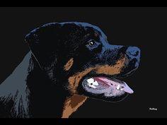 Video Post Contemporary Artwork by DavidBridburg.com   Rot,rottie,rottweiler,dog,canine,lab,labrador retriever,wolf,red wolf,lion,tiger staring,squirrel,mozart,ein kleine nachtmusik,a little night music,david bridburg