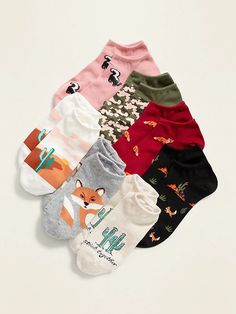 Set includes seven pairs of ankle socks, each in a different color and pattern. Rib-knit openings keep socks in place. Notched heel and toe seams. Soft, lightweight cotton-blend, with comfortable stretch. Toddler Boy Gifts, Baby Girl Gifts, Funny Socks, Cute Socks, Navy Socks, Liner Socks, Shop Old Navy, Ankle Socks, Cool Patterns