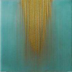 """Saatchi Online Artist: Janise Yntema; Encaustic Wax, 2012, Painting """"Waterfall IV"""""""