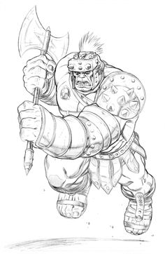 Planet Hulk by Ed McGuiness Comic Art