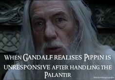 Even though he was always testy with Pippin, I think he was one of Gandalf's favorite people