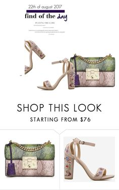 """FInd of the day: crossbody bag"" by stellina-from-the-italian-glam ❤ liked on Polyvore featuring sandals, crossbodybag, findoftheday and shopwithstellina"