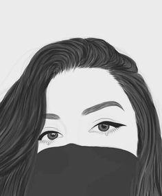 dessins de fille tumblr , beauté, noir et blanc, couple