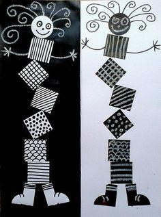 Ideas For Geometric Line Art Math School Art Projects, Art School, Classe D'art, 3rd Grade Art, Ecole Art, Kindergarten Art, Art Lessons Elementary, Elements Of Art, Art Classroom
