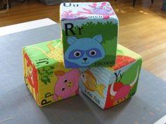 DIY baby blocks. Too cute.